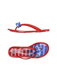 Colors Of California - Red Thong Sandal - Lyst