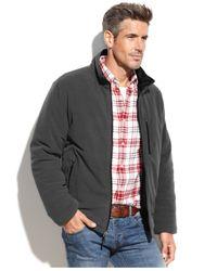 Weatherproof Gray Nano Tech Reversible Fleece Jacket for men