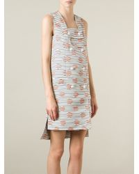 KENZO | White 'Dots And Stripes' Dress | Lyst