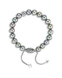 David Yurman | Spiritual Beads Bracelet With Gray Pearls | Lyst