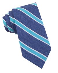 Ted Baker | Blue Striped Silk Tie for Men | Lyst