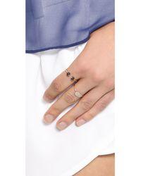 Ginette NY Metallic Mini Sequin Diamond Ring - Rose Gold/Clear