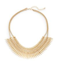 Saks Fifth Avenue | Metallic Spike Bib Necklace | Lyst