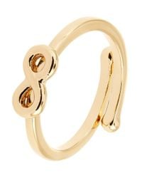 kate spade new york | Metallic Adjustable Infinity Charm Ring | Lyst
