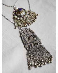 Free People - Metallic Haati Chai Womens Mega Double Pendant - Lyst