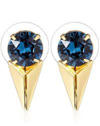Joomi Lim - Blue Crystal Pyramid Vicious Love Earrings - Lyst