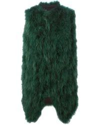 Giorgio Brato - Green Feather Wool-Blend Gilet  - Lyst