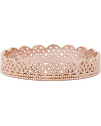 Grace Lee Pink Rose Gold Lace Band Ring
