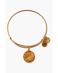 ALEX AND ANI | Metallic 'Godmother' Expandable Wire Bangle - Rafaelian Gold Finish | Lyst