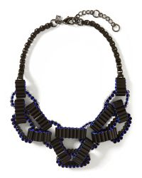 Banana Republic | Black Geo Link Necklace | Lyst