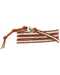 Chan Luu | Brown 32' White Jade/Natural Wrap Bracelet | Lyst