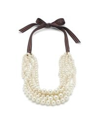 J.Crew - White Pearl Hammock Necklace - Lyst