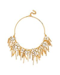 BaubleBar | Metallic 'glasslight' Collar Necklace - Clear/ Gold | Lyst