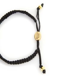 Juicy Couture | Black Pave Jc Macrame Friendship Bracelet | Lyst