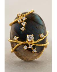 Indulgems | Gray Vineyard Labradorite Ring | Lyst