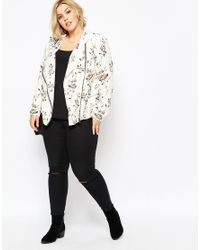 Carmakoma White Plus Size Calca Blazer In Floral Print