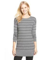 Caslon - Gray Rib Knit Tunic Sweater - Lyst