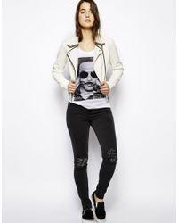ELEVEN PARIS White Lenny Kravitz Moustache Tshirt