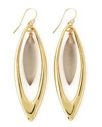 Alexis Bittar | Metallic Neo Boho Large Marquise Drop Earrings | Lyst