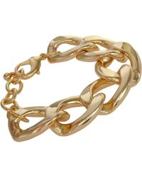 Kenneth Jay Lane | Metallic Oversize Curb Link Bracelet | Lyst