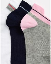 ASOS Multicolor 3 Pack Trainer Socks