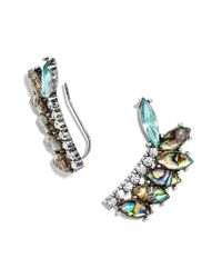 BaubleBar | Metallic 'narnia' Ear Crawlers - Abalone/ Antique Silver | Lyst