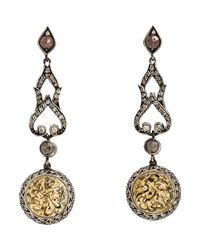 Sevan Biçakci - Metallic Women's Arabic-script Intaglio Drop Earrings - Lyst