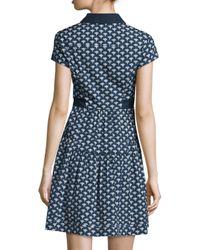 Diane von Furstenberg - Blue Skylar Peace Palm A-line Shirtdress - Lyst