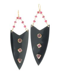 Ashley Pittman | Red Arrow Ruby & Tourmaline Earrings | Lyst