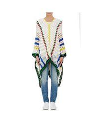 Mira Mikati - Multicolor Women's Striped Crochet Poncho - Lyst