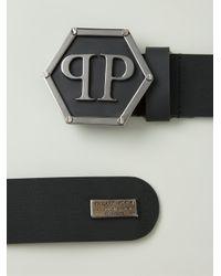 Philipp Plein Black Hexxagon Belt for men