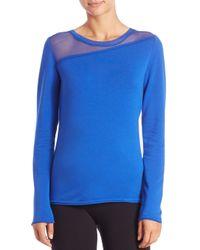 Elie Tahari | Blue Kaori Long-sleeve Knit Top | Lyst