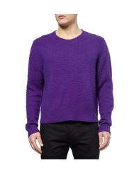 Acne Studios | Purple Peele Pilled Wool and Cashmereblend Sweater for Men | Lyst