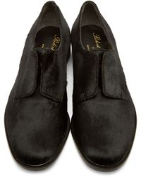 Robert Clergerie | Black Calf-hair Slip-on Oxfords | Lyst