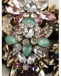 Night Market - Multicolor 'Golden Leaf' Necklace - Lyst