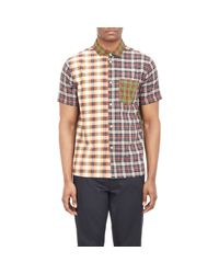Marc By Marc Jacobs Orange Mixed Plaid Shirt for men