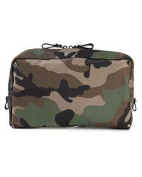 Valentino Green Camouflage Wash Bag for men