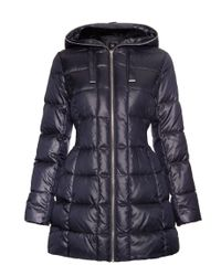 Halifax Traders - Blue Quilted Hooded Jacket - Lyst
