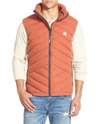Bench | Red Regular Fit Quilted Vest for Men | Lyst