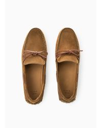 Mango Brown Suede Driving Shoes for men