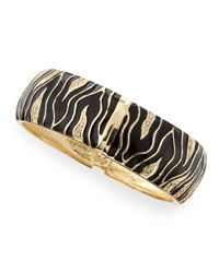 Sequin - Black Wide Zebra Bangle - Lyst