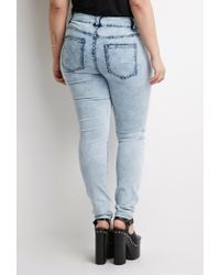 Forever 21 - Blue Plus Size Cloud Wash Jeans You've Been Added To The Waitlist - Lyst