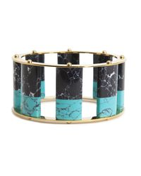 Lele Sadoughi | Tall Stackable Bangle, Blue Steel | Lyst