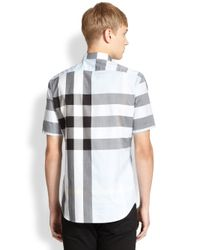 Burberry Brit Gray Fred Checked Sportshirt for men