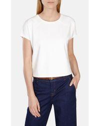 Karen Millen White Box Sweatshirt T-shirt Top