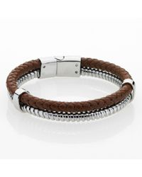 Storm | Brown Plyro Bracelet for Men | Lyst