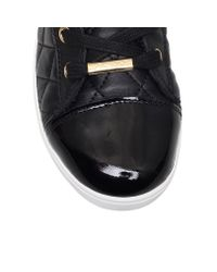 DKNY - Black Betty Flat Lace Up Trainer Boots - Lyst