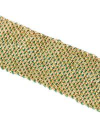 Carolina Bucci Metallic Gold And Silk Melange Woven Bracelet