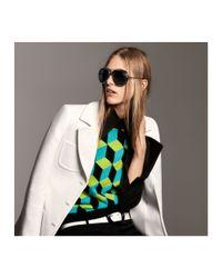 Michael Kors - Green Hexagon Cashmere Sweater - Lyst