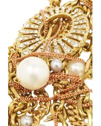 Lulu Frost Metallic Bord La Mer Gold-Plated, Crystal And Freshwater Pearl Necklace